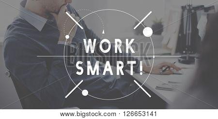 Work Smart Hard Management Productivity Concept