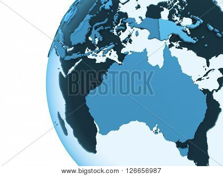Australia On Translucent Earth