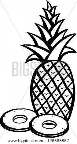 pineapple and slices