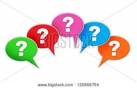 Question Signs Bubbles