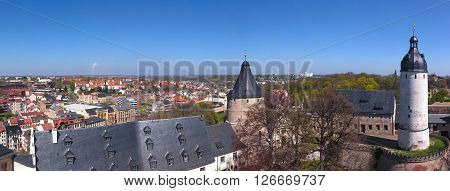 Castle Altenburg Germany mediecal town areial view ** Note: Visible grain at 100%, best at smaller sizes