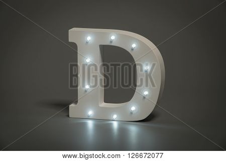 Decorative Letter D With Embedded Led Lights