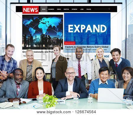 Expand Enlarge Development Growth Progress Grow Concept