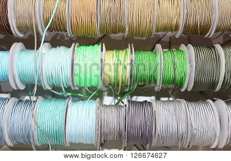 Ribbons And Decorative Rolls For Sale Per Meter In The Wholesaler's Shop Of Articles For Hobbyists