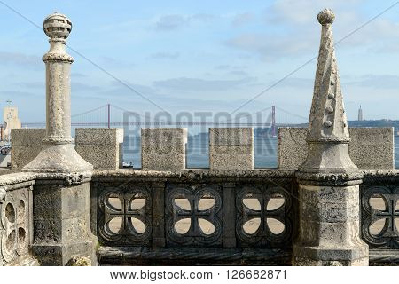 Belem Tower is a fortified tower located in the civil parish of Santa Maria de Belém in the municipality of Lisbon Portugal.