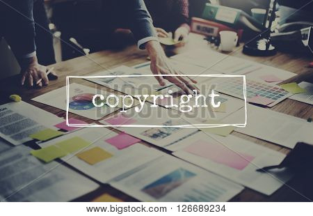 Copyright Copyrighted Trademark Register Concept