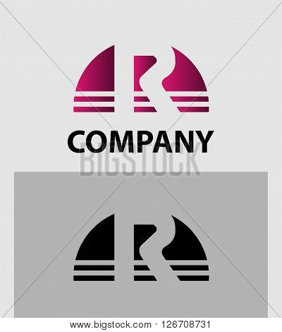 Abstract letter R icon. Letter R logo icon design template elements