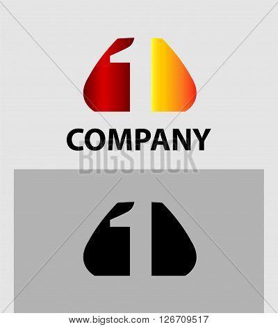 Number 1 logo. Vector logotype design template