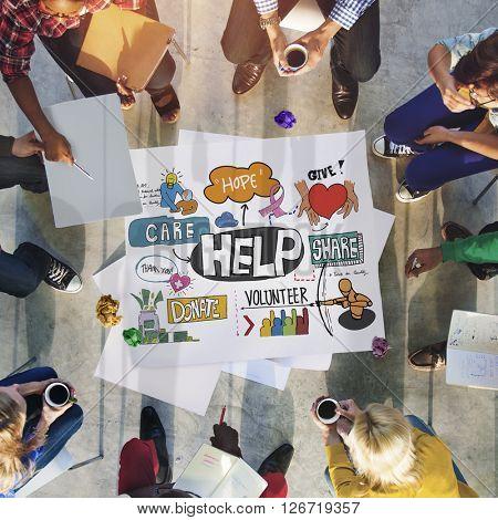 Give Help Donate Walfare Charity Donate Concept