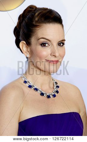 Tina Fey at the 88th Annual Academy Awards - Press Room held at the Loews Hotel in Hollywood, USA on February 28, 2016.