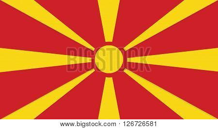 Illustration Of A Macedonia Flag