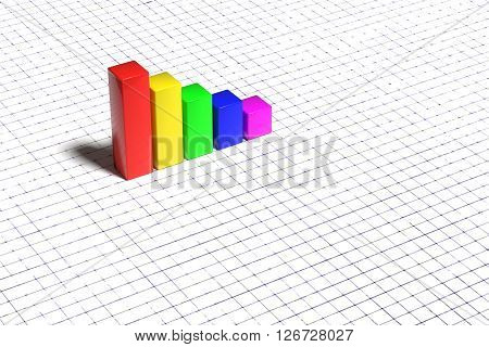Bright Graph On White Background