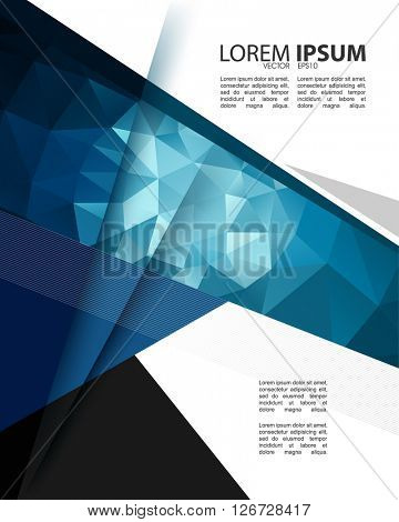 eps10 vector polygon elements corporate modern trendy cover template