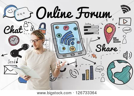 Online Forum Networking Connection Internet Concept
