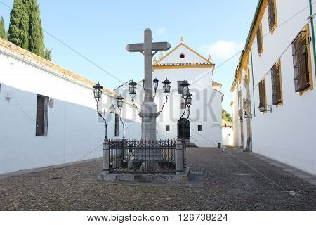 Cristo de los faroles in the Capuchinos Square of Cordoba -  Spain.