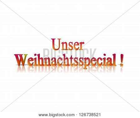 Unser Weihnachtsspecial / Our Christmas Special - 3D Word
