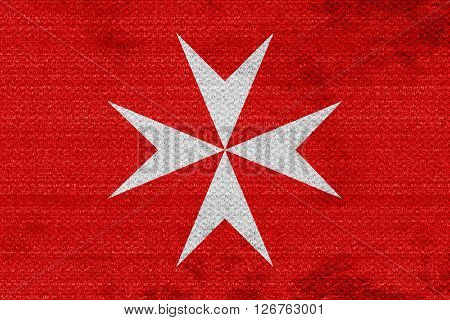 Malta knights flag with some soft highlights and folds