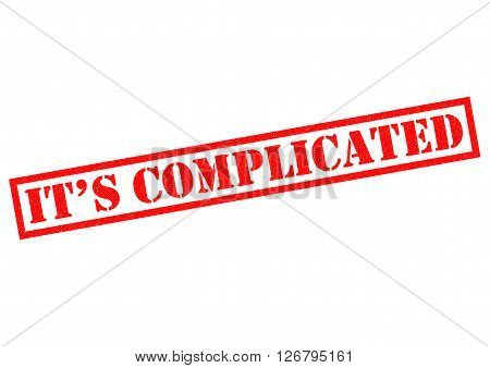 IT'S COMPLICATED red Rubber Stamp over a white background.