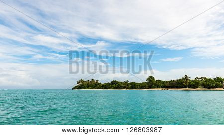 No Man's Land Tobago panoramic view tropical seascape beach bay Caribbean