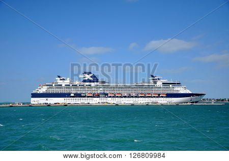 KEY WEST, FL, USA - DEC 20, 2012: Celebrity Constellation docked in Key West, Florida, USA.