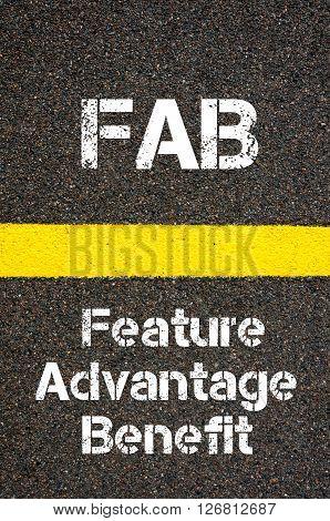 Business Acronym Fab Feature Advantage Benefit