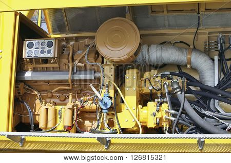 Yellow Industrial Structure And Engine