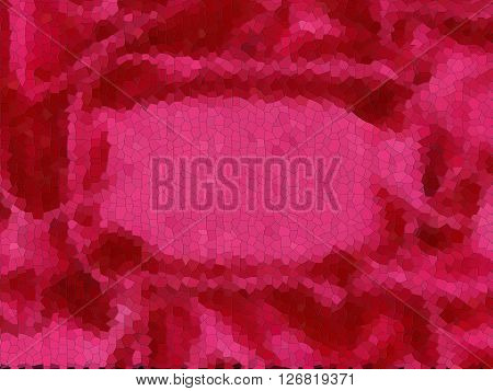 red background fabric redone in photoshop as a mosaic