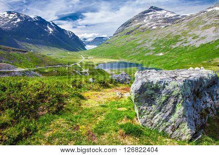 Famous Trollstigen (Troll's road) in Norway Europe