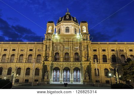 Maria-Theresien-Platz with Natural History Museum in Vienna in Austria