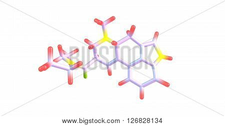 Lysergic acid diethylamide LSD is a psychedelic drug known for its psychological effects which include altered thinking processes. 3d illustration poster