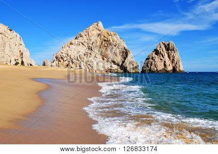 Lovers beach (Pacific side), Cabo San Lucas, Baja California Sur, Mexico