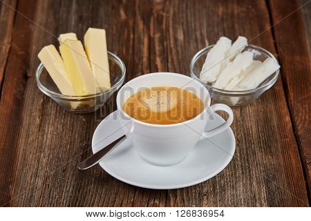 Coffee, Butter And Coconut Oil For Bulletproof Coffee