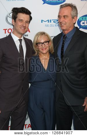 LAS VEGAS - APR 21:  Christian Hebel, Rachael Harris, Bobby Kennedy Jr at the Keep It Clean Comedy Benefit For Waterkeeper at the Avalon Hollywood on April 21, 2016 in Los Angeles, CA