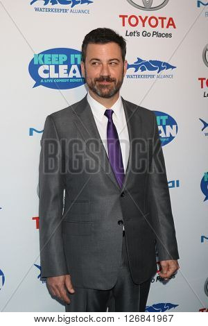 LAS VEGAS - APR 21:  Jimmy Kimmel at the Keep It Clean Comedy Benefit For Waterkeeper at the Avalon Hollywood on April 21, 2016 in Los Angeles, CA