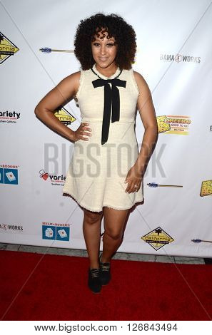 LAS VEGAS - APR 17:  Tamara Mowry-Housley at the Milk + Bookies Story Time Celebration at the California Market Center on April 17, 2016 in Los Angeles, CA