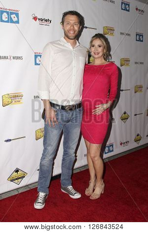 LAS VEGAS - APR 17:  Joel Henricks, Ashley Jones at the Milk + Bookies Story Time Celebration at the California Market Center on April 17, 2016 in Los Angeles, CA