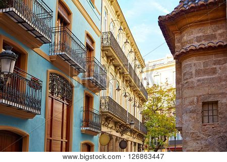 Valencia Downtown near Sant Vicent street at Spain