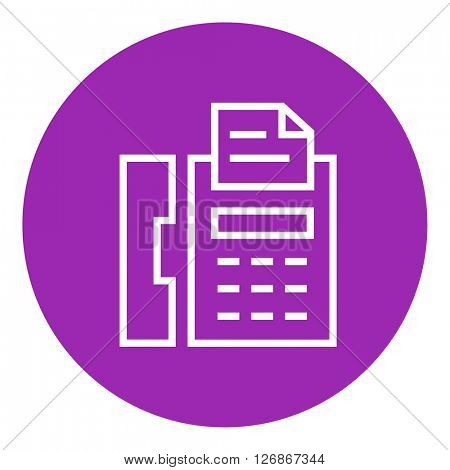 Fax machine line icon.