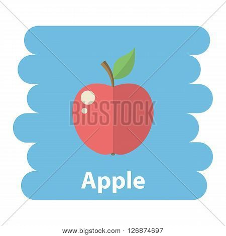 Apple icon.Vector Red apple icon isolated.Cartoon apple vector.Vector fruit  apple icon isolated on background .Vector fruit.Vector  apple icon isolated fruit.Vector apple flat icon.Vector Fruit apple