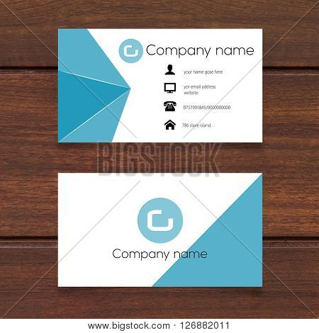 visiting card design 100%vector can re editable and re sizable fully
