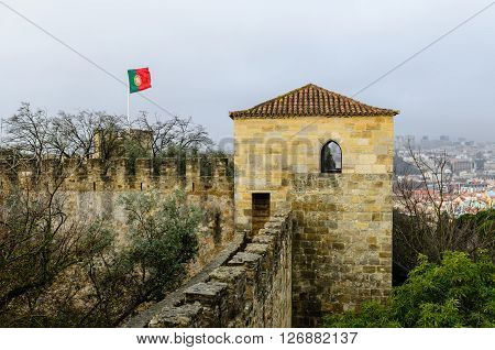 St. George's castle, Alfama district, Lisbon, Portugal.