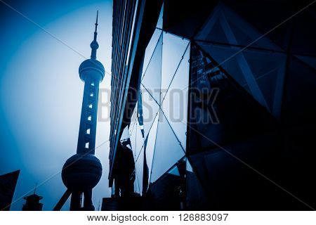 the Oriental Pearl Tower,shanghai china.