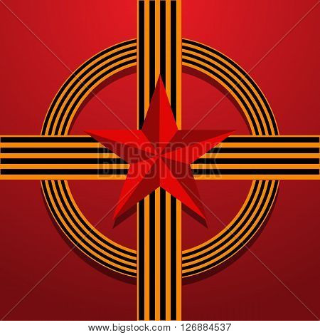Victory Day Red Vector Illustration Eps 10 Background