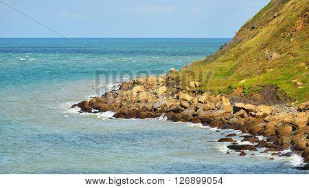 View Of Coast At Cap Gris Nez, France