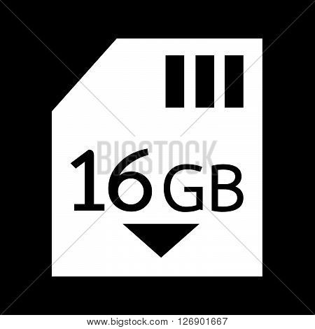 Memory Card 16 Gb icon Illustration design