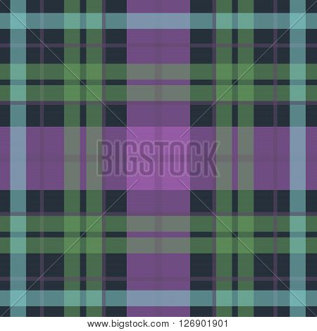 Vector seamless scottish tartan pattern in purple blue black green. British or irish scottish celtic design for textile fabric or for wrapping backgrounds wallpaper websites