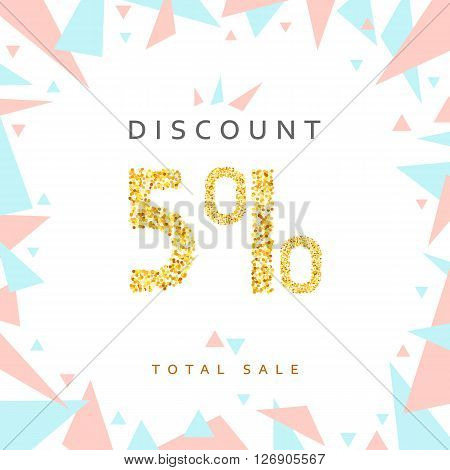 Discount 5. Discounts price tag. Golden discount. Black Friday. Clearance Sale. Discount coupon. Discount gold. Sale discount