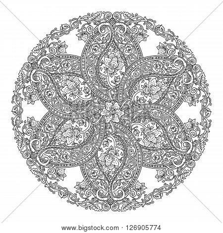 Round Floral Mandala