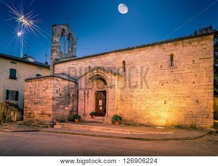 San Quirico Dorcia Tuscan Town
