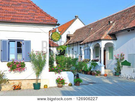 in popular Wine Village of Moerbisch at Lake Neusiedler See in Burgenland,Austria poster